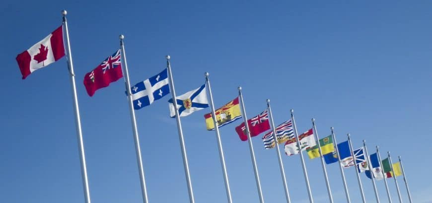 Flags of Canada and Canadian provinces and territories